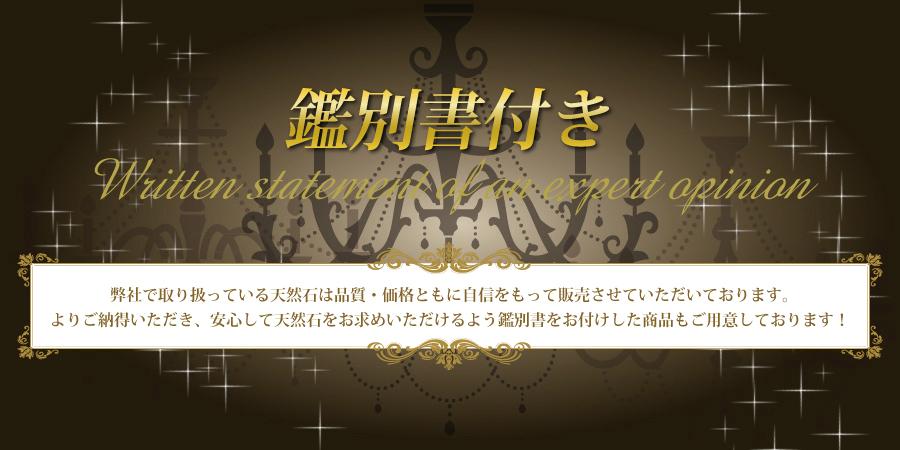 鑑別書付き -Written statement of an expert opinion-