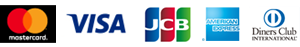 MasterCard VISA JCB AMEX Diners